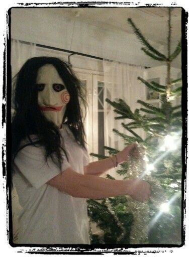 I Saw him behind the Christmad tree