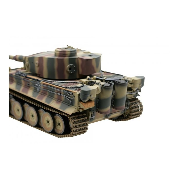 Tiger I Kampvogn 2.4 GHz-Edition Airbrush with metal-chassis early version BB Summer - RC Kampvogn
