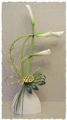 The graceful curves of Calla lilies - Floral Arrangement by Chrissie Harten / A Flower Arragner's