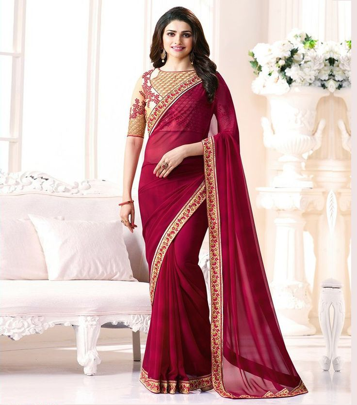 Buy Maroon Color Georgatte Embroidered work Party Wear Saree By Styloce Online at Low prices in India on Winsant, India fastest online shopping website. Shop Online for Maroon Color Georgatte Embroidered work Party Wear Saree By Styloce only at Winsant.com. COD facility available.