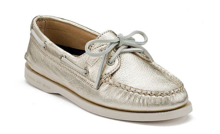 Sperry Top-sider Women's Authentic Original Metallic Boat Shoe... I wear these with almost anything