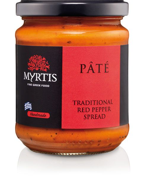 Myrtis Red Pepper Spread is a perfect appetizer, with spicy taste and soft texture, ideal to serve as a dip or on slices of baguette. It makes for a delicious sauce for sandwiches, barbecued meats and grilled vegetables or can bring deeper flavor in tomato sauces for pizza and pasta.