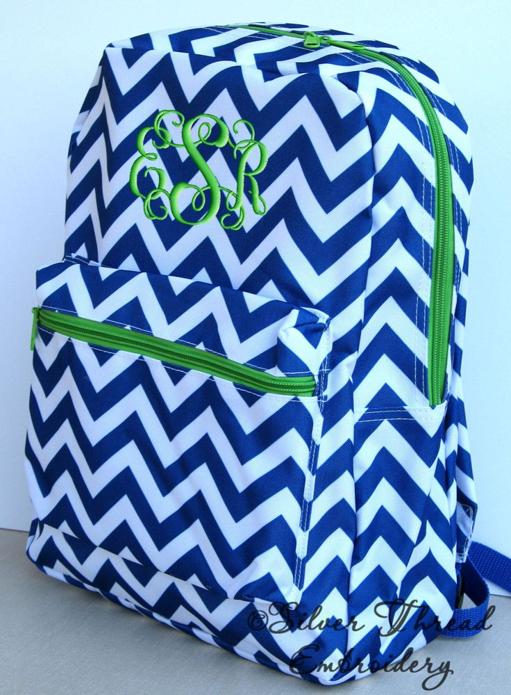 chevron back pack | Children Chevron Backpack Personalized Monogrammed School Girl Boy