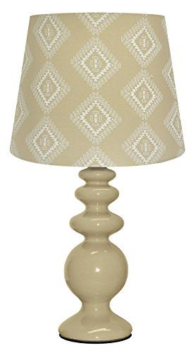Update your room, dorm or desk with this modern, porcelain table lamp.