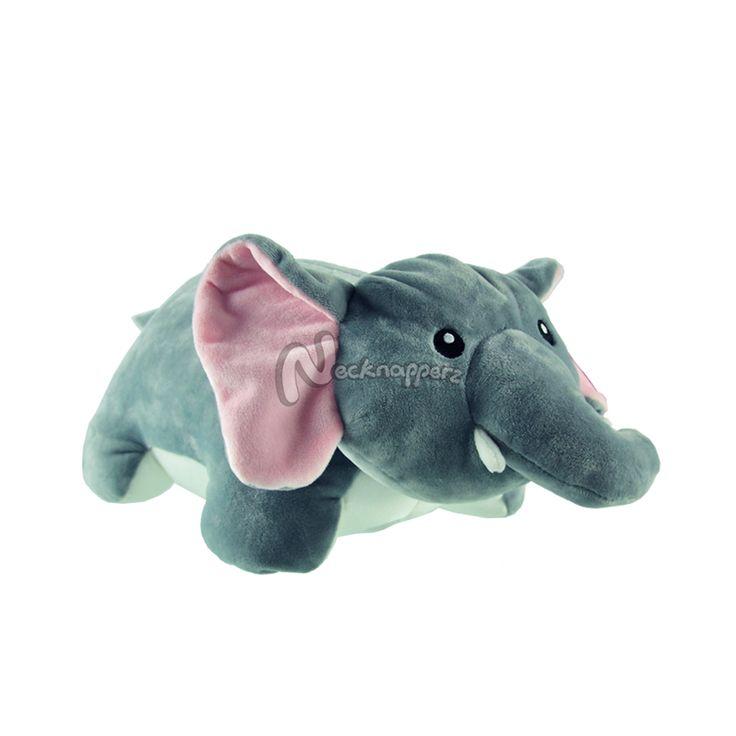 NeckNapperz Elephant Pet Pillow, Gray