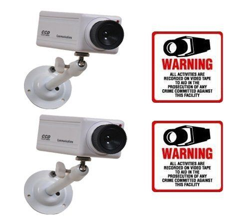 2 VAS #2604 Indoor Dummy Camera Blinking LED W (2) #204 Decal by VAS First Response. $30.95. Product Description: #2604 Now you can deter robbery, theft, and vandalism without the high cost of a real outdoor security camera. When placed outside your home or business, even the most sophisticated criminals will think the premises is guarded by a high-tech surveillance system and go in search of an easier target. In fact, this is an actual surveillance camera in outdoor housing ...