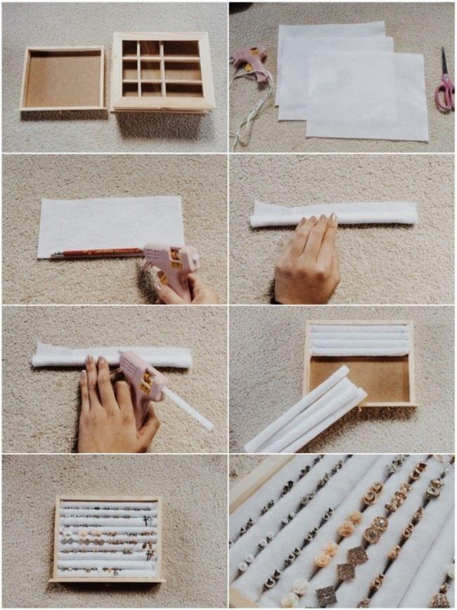 Machen Sie Schmuckspeicher selbst – Holzkiste, Filz, Bleistifte  #bleistifte #ho…