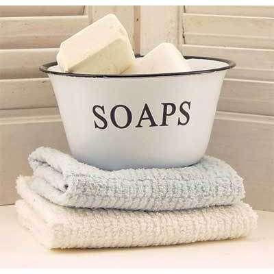 Charming Vintage Reproduction Enamelware SOAPS Bowl   This Next. Vintage Bathroom  DecorVintage ...