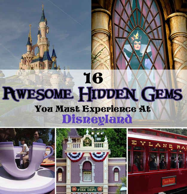 16 Awesome Hidden Gems You Must Experience At Disneyland - BuzzFeed Mobile Some of these I actually didn't know!