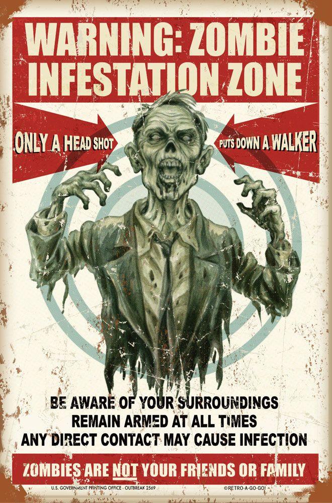 Warning: Zombie Infestation Zone    https://www.facebook.com/OurWorldGeekery