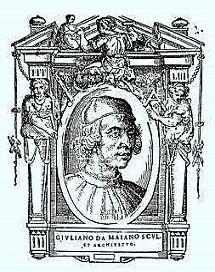 Giuliano da Maiano (1432 – 1490) was een Italiaans architect, intarsia-kunstenaar (inlegwerk) en beeldhouwer.