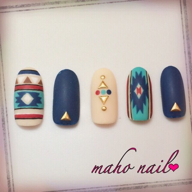45+Marvelous+Tribal+Nail+Art+Design
