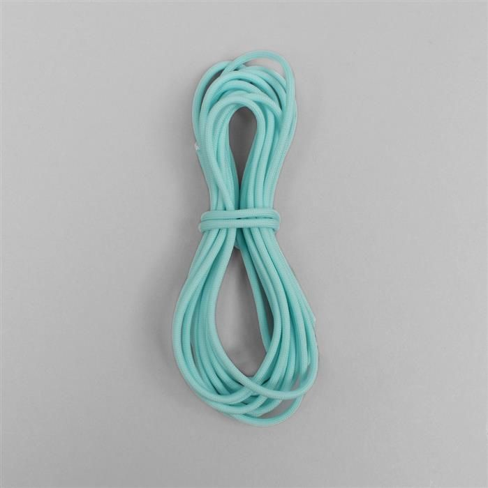 16ft Luminous Sky Blue Paracord Approx 4mm