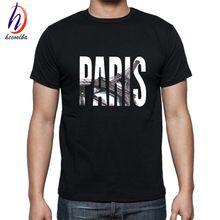 Nouvelle arrivée 2017 hommes d'été à manches courtes paris imprimé t-shirts harajuku hip hop butin t-shirt homme marque-clothing, hct179(China (Mainland))