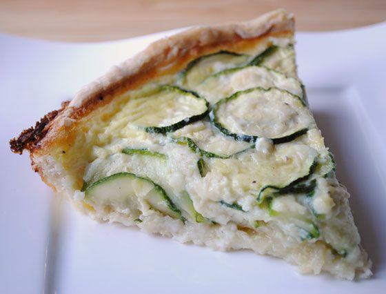 So, How's It Taste? » Zucchini & Caramelized Onion Quiche
