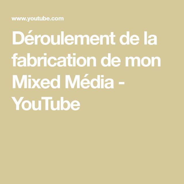 Déroulement de la fabrication de mon Mixed Média - YouTube