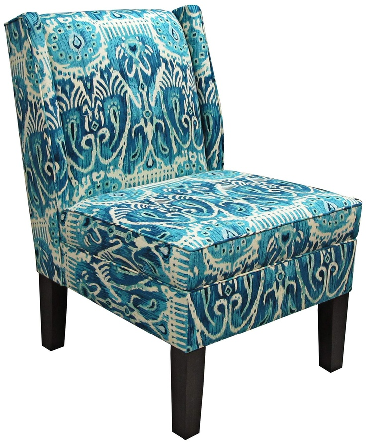 Alessandra teal wingback accent chair 55downingstreet