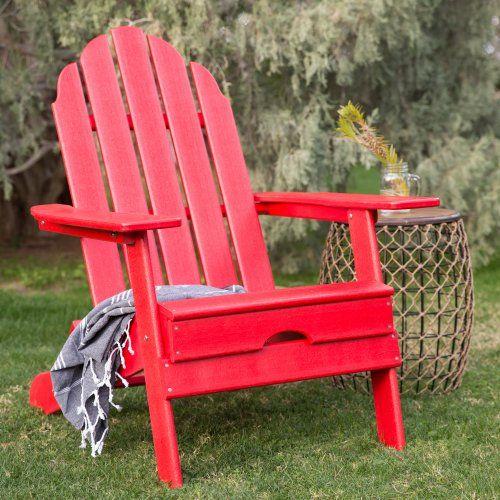 Belham Living Belmore Recycled Plastic Folding Adirondack Chair