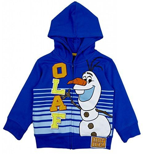 Frozen Little Boys Olaf Fleece Zip Hoodie 4T Blue @ niftywarehouse.com #NiftyWarehouse #Disney #DisneyMovies #Animated #Film #DisneyFilms #DisneyCartoons #Kids #Cartoons