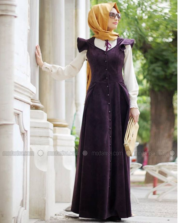 Prenses Kadife Elbise - Mürdüm - Gamze Polat