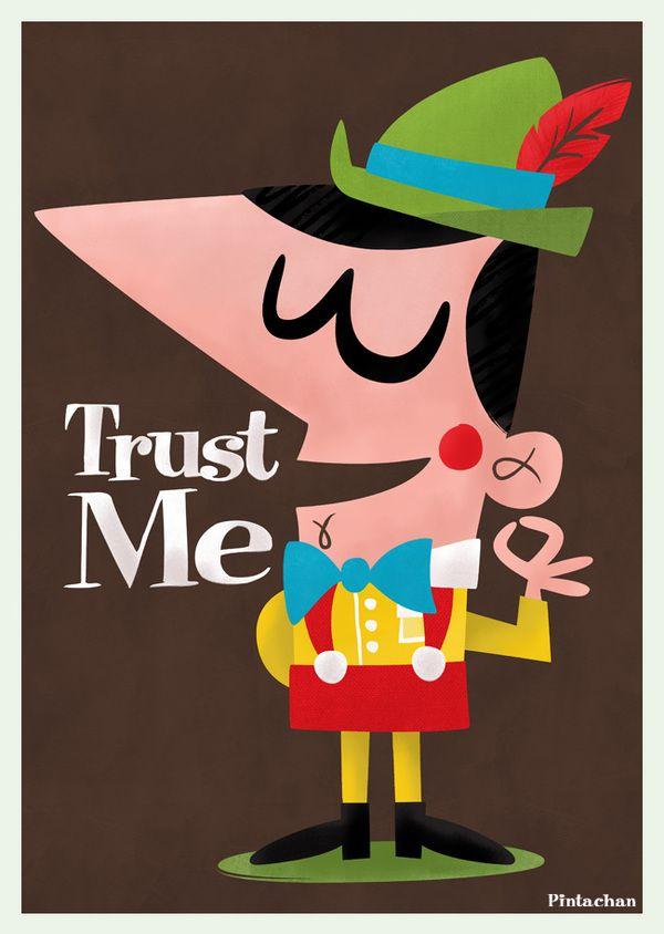 Créeme por Pintachán3D Character, Character 3D, Naranja China, Vintage Illustration, Graphics Design, Pintachan, Character Design, Trust Me, Cartoons Character