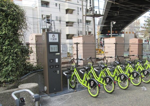 Touch screen bicycle rental kiosks in Japan