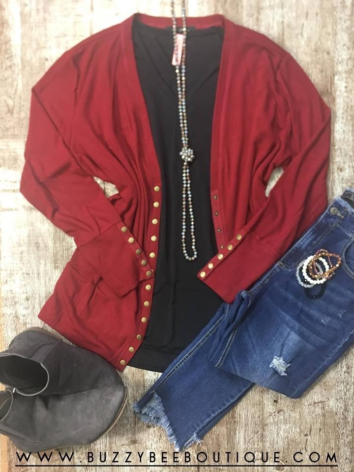 Plus Size Women's Snap Cardigan outfit with a cheetah sugar stack bracelet a…