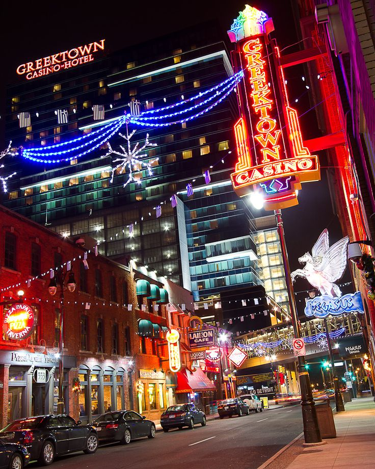 Detroit, MI, Greektown, Across the border, after the bars would close, we would go to Greektown.