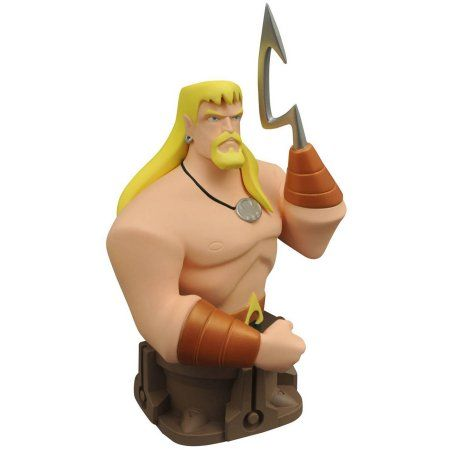 Diamond Select Toys Justice League Animated Animated Series Aquaman Resin Bust, Multicolor