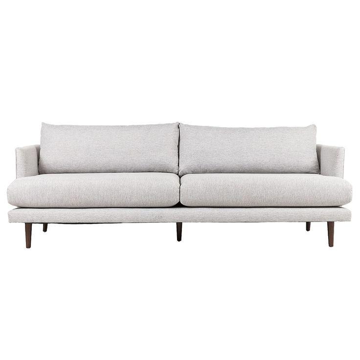 Sofas, lyric 3 seater sofa - twill grey