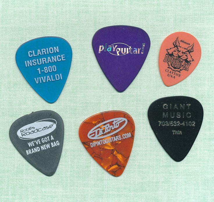 6 Guitar Picks Lot 100