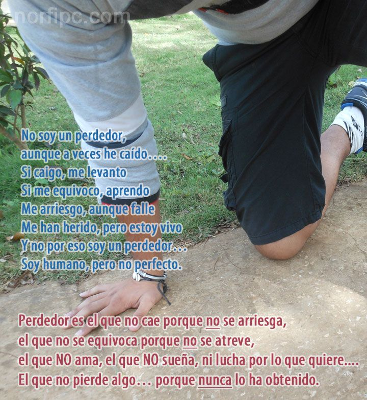 Poema de ánimo y aliento. Corre por tu vida y felicidad, sin miedo a caer o a tropezar
