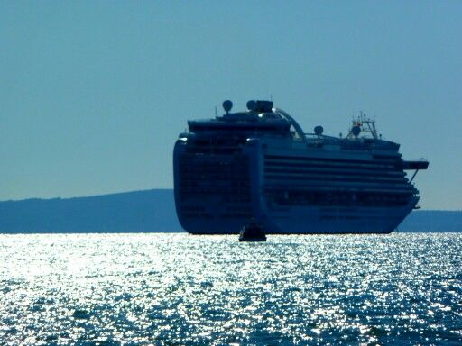 Ruby PRincess off Split, Croatia