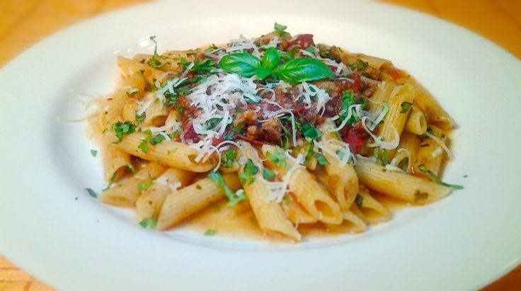 Penne Bolognese #italianfood, #pasta