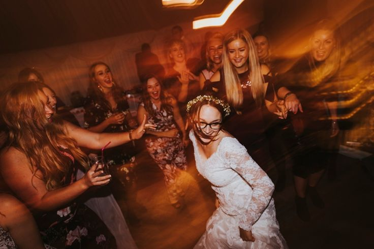 The bride shaking her thang on the dancefloor. Photo by Benjamin Stuart Photography #weddingphotography #bride #dancing #weddingdance #onthedancefloor #shakeit #weddingfun #weddingparty #party