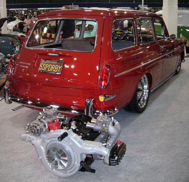 Squareback engine Side draft carbs