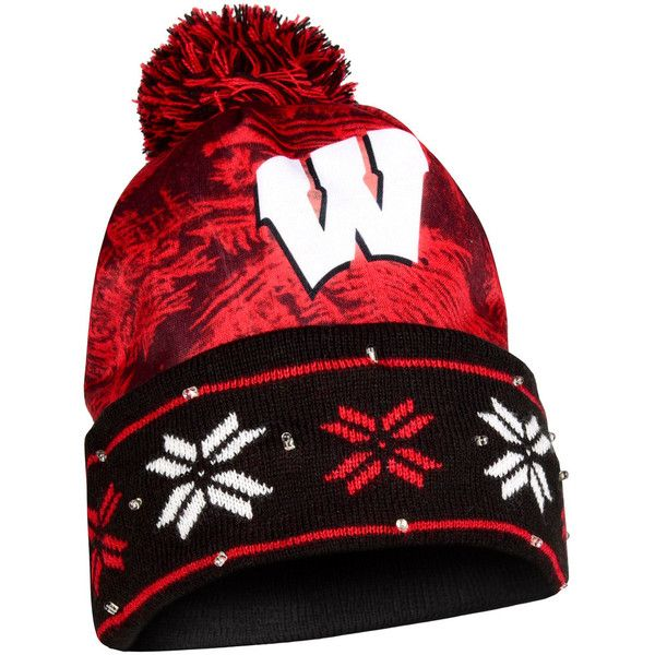 Adult Forever Collectibles Wisconsin Badgers Light Up Beanie ($30) ❤ liked on Polyvore featuring accessories, hats, multicolor, colorful beanie hats, beanie caps, beanie cap hat, wisconsin badgers hat and beanie hat