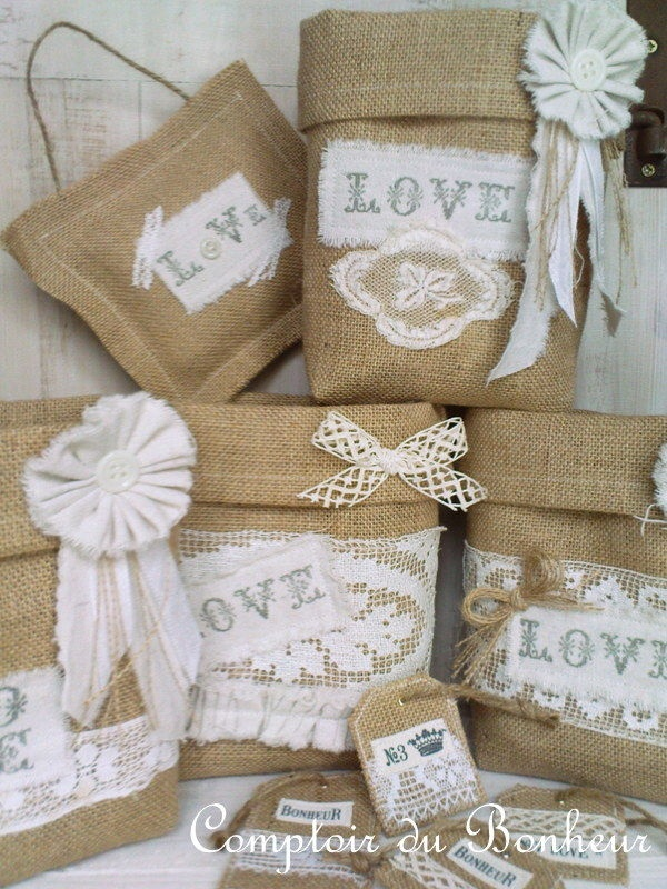 dsc01320 love linen burlap cotton pinterest pochettes cadeaux jute et toile de jute. Black Bedroom Furniture Sets. Home Design Ideas