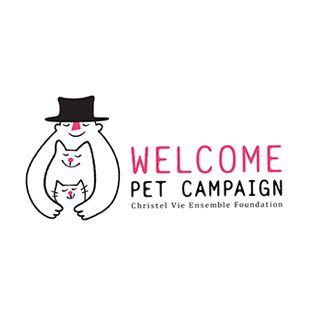 WELCOME PET CAMPAIGNのロゴ:動物たちへの愛情が伝わってくるロゴ | ロゴストック