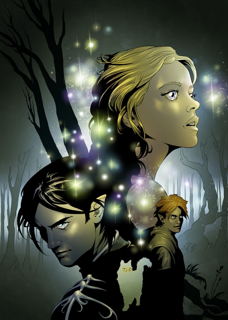 Megan, Ash, Puck and Grimalkin! The Iron Fey series