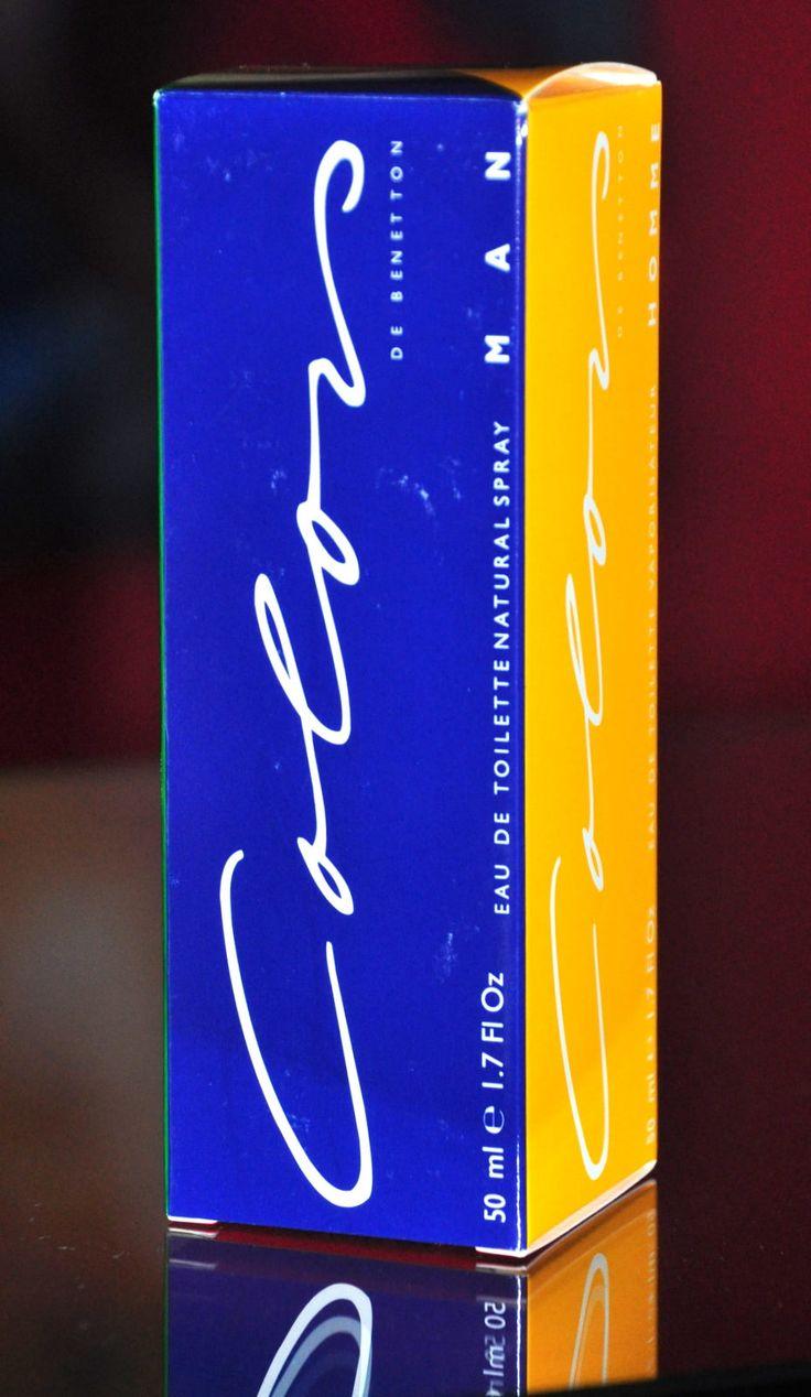 Benetton Colors Homme Eau de Toilette Edt 50ML Profumo Uomo Raro Vintage 1987 Colors de Benetton Men di Benetton è una fragranza del gruppo Orientale Legnoso da uomo. Colors de Benetton Men è stato lanciato sul mercato nel 1987. Il Naso di questa fragranza è Ann Gottlieb. Le note di testa sono Coriandolo, Lavanda, Foglie Verdi, Bergamotto e Limone; le note di cuore sono Ciclamino, Garofano, Cipresso, Abete, Gelsomino e Rosa; le note di base sono Sandalo, Ambra, Patchouli, Benzoino, Cocco…