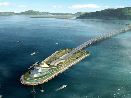 China, Hong Kong-Zhuhai-Macau Bridge project will link three cities in the Pearl River Delta — created one mega-city of 42 million people. Due to be completed in 2017.