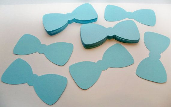 50 Bow Tie die cuts light blue/ Cardstock by BethsBannerBoutique, $6.00