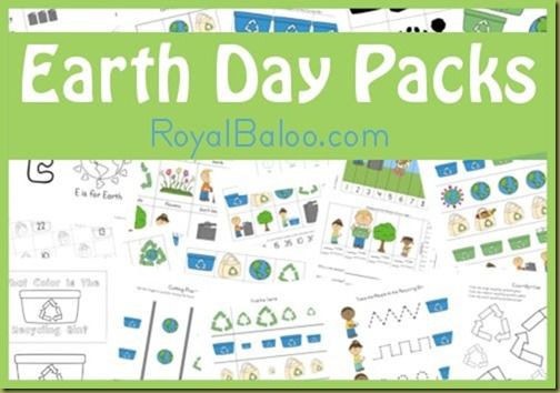 Free Earth Day Printable Pack from Royal Baloo