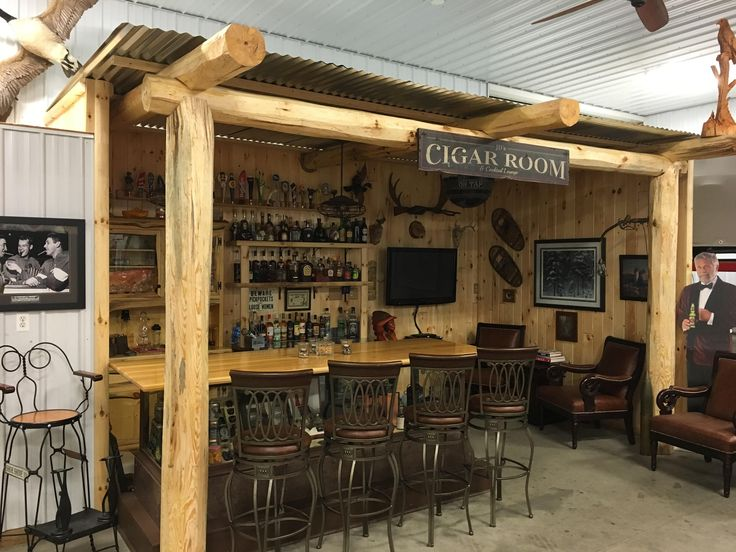#log home #log cabin #rustic #bar #entertainment
