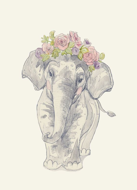 Elephant Flower Crown by annatyrrell on Etsy