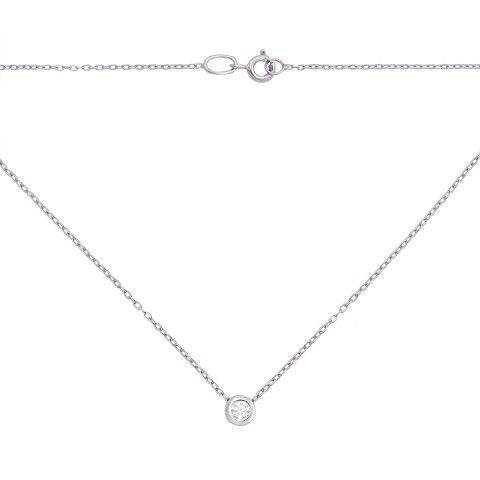 Золотое колье с бриллиантом. Артикул 52963/3б