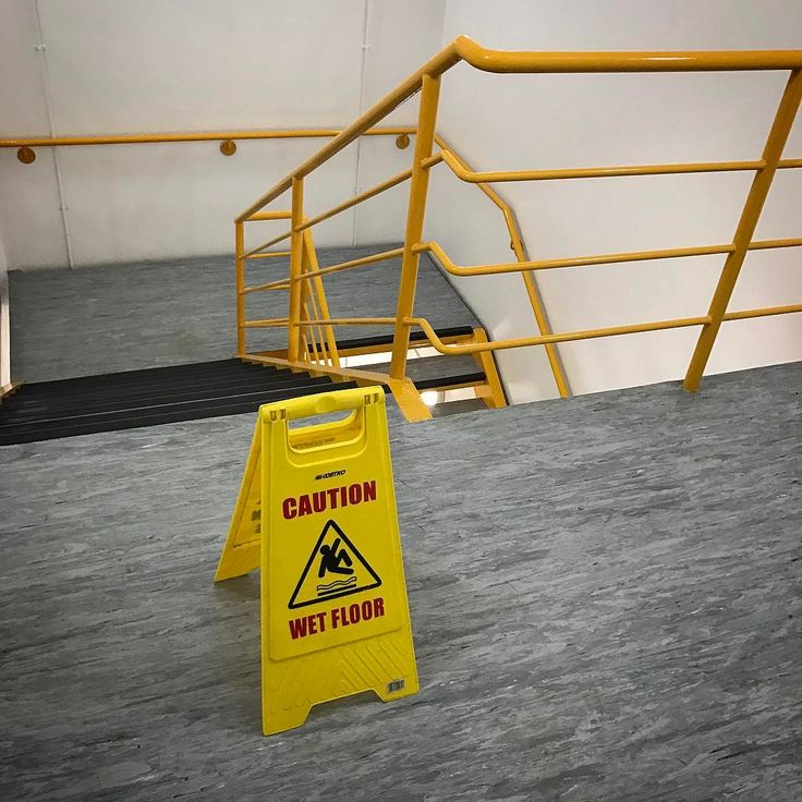 Caution: wet floor. Also: don't trip over the wet floor sign and fall down the stairs. #signs #warningsigns #healthandsafety #yellow http://ift.tt/2mNiiIu