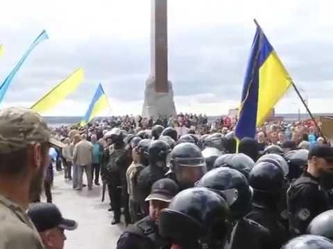 Украина День Победы как снимали георгиевские ленты, конфликты первой крови