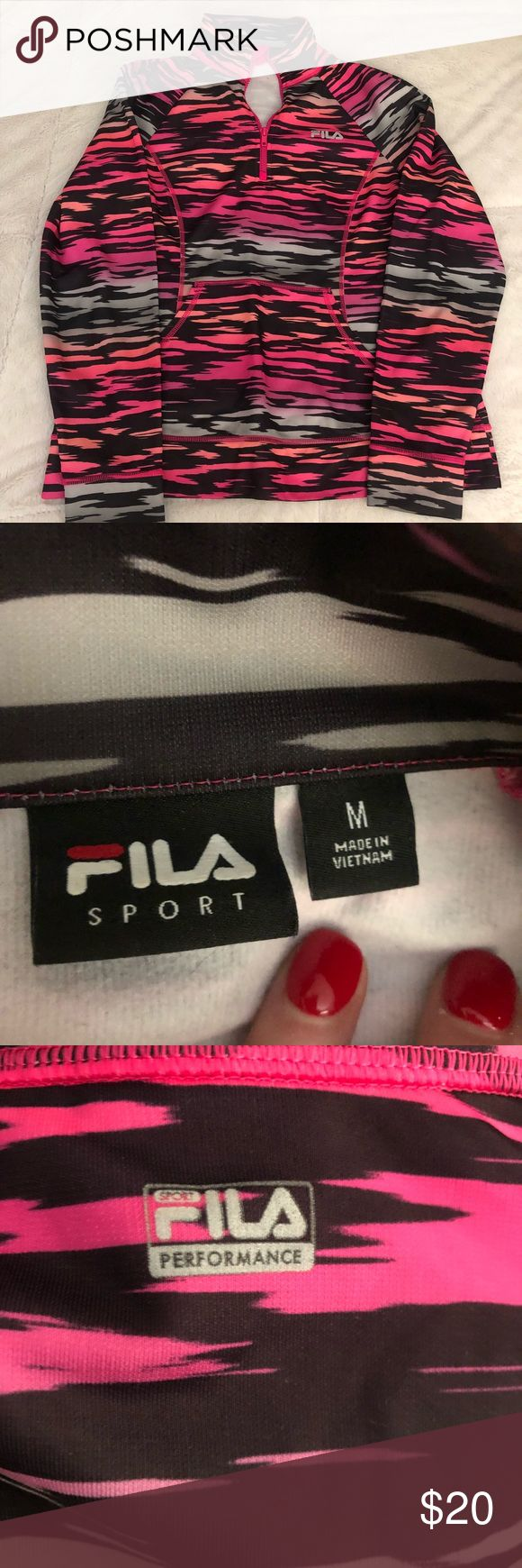 File long sleeved gym top Barely worn. Mint condition Fila Tops Sweatshirts & Hoodies